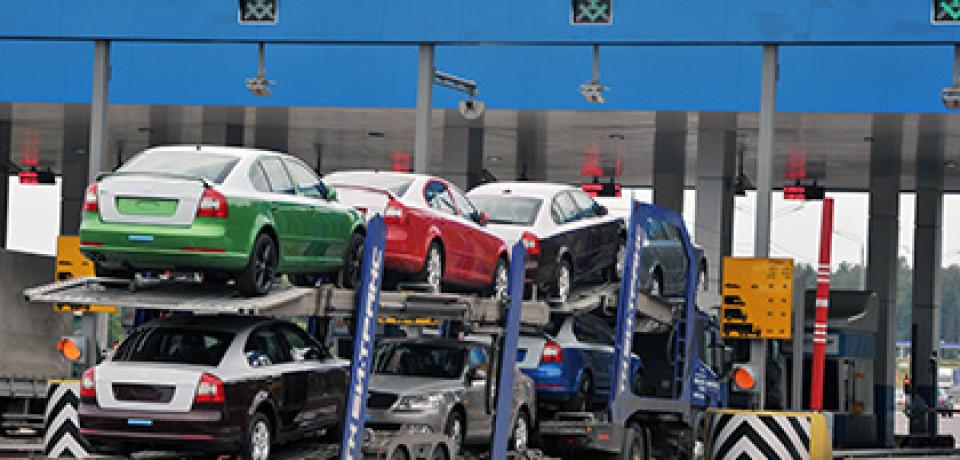 Украина введет пошлину на импорт автомобилей из России